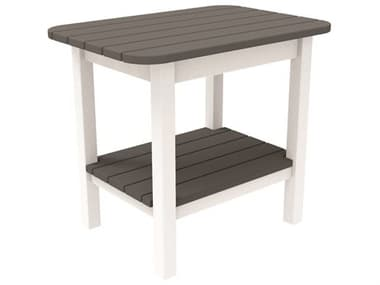 Seaside Casual Westerly Occasionals Recycled Plastic 24''W x 17''D Rectangular End Table SSC026