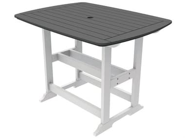 Seaside Casual Portsmouth Recycled Plastic 56''W x 42''D Rectangular Bar Table SSC085
