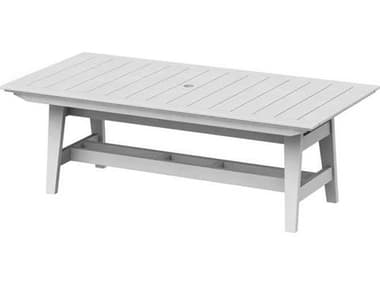 Seaside Casual Mad Recycled Plastic 85''W x 40''D Rectangular Dining Table with Umbrella Hole SSC271