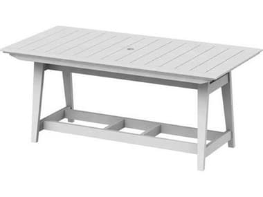 Seaside Casual Mad Recycled Plastic 85''W x 40''D Rectangular Counter Table with Umbrella Hole SSC272