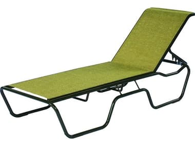 Suncoast Sanibel Sling Cast Aluminum Stackable Chaise Lounge SU1913