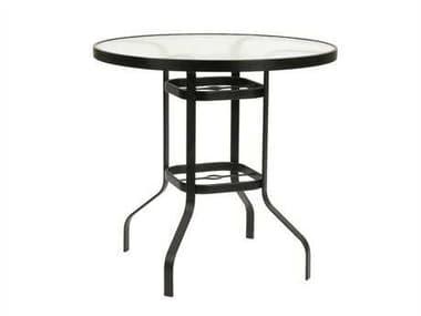 Suncoast Cast Aluminum 30'' Round Glass Top Bar Table SU30BKD