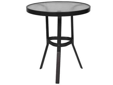 Suncoast Cast Aluminum 30'' Round Glass Top Gathering Height Table SU30GKD