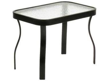 Suncoast Cast Aluminum 24'' x 16'' Rectangular Glass Top End Table SU31624G
