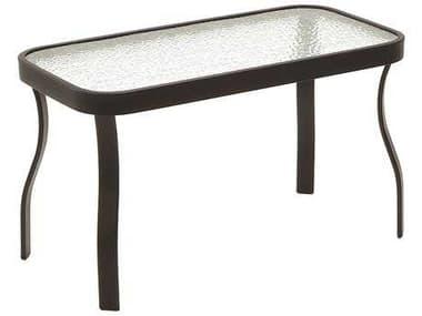 Suncoast Cast Aluminum 36'' x 20'' Rectangular Glass Top Console Table SU32036G