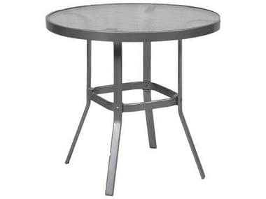 Suncoast Cast Aluminum 36'' Round Glass Top Counter Table SU36GKD
