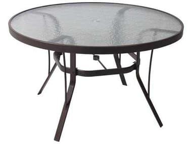 Suncoast Cast Aluminum 48'' Round Glass Top Dining Table SU48KD