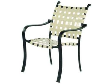 Suncoast Rosetta Strap Aluminum Stackable Dining Arm Chair SU490