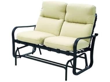 Suncoast Rosetta Cushion Cast Aluminum Glider Loveseat SU5409