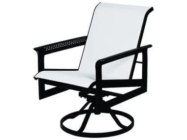 Suncoast South Beach Sling Cast Aluminum Arm Swivel Dining Chair SU9216