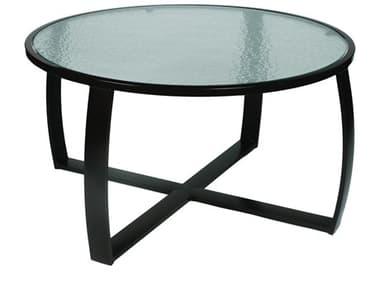 Suncoast Pinnacle Aluminum 44'' Round Glass Coffee Table SUE6T44C