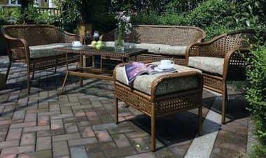 Suncoast Kona Conversation Cushion Wicker Lounge Set SUKONAWR