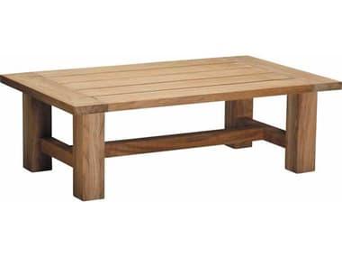 Summer Classics Croquet Teak 48''W x 26.75''D Rectangular Coffee Table SUM2841