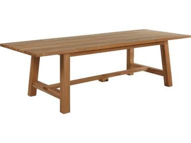 Summer Classics Paige Teak Natural 104''W x 40''D Rectangular Dining Table SUM2864