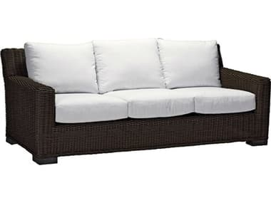 Summer Classics Rustic Wicker Sofa with Cushion SUM3745