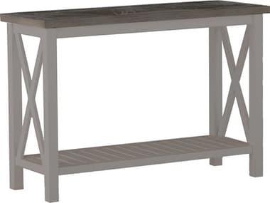 Summer Classics Cahaba Slate Grey 50'' Wide Aluminum Rectangular Console Table SUM382331