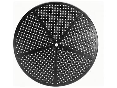 Summer Classics Double Lattice Cast Aluminum 60'' Wide Round Table Top with Umbrella Hole SUM4276