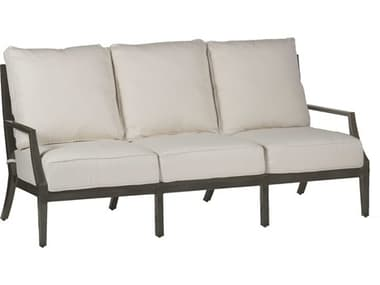 Summer Classics Lattice Slate Gray Cast Aluminum Sofa SUM450531
