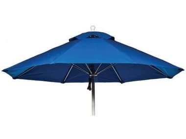 Suncoast Commercial Silver Aluminum 9' Octagon Market Strong Push Lift Umbrella SUU1019