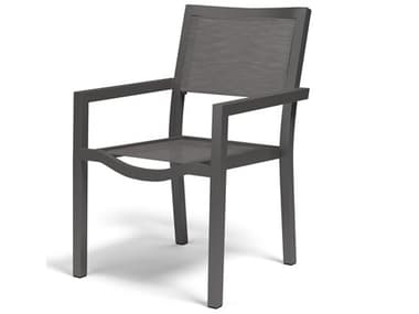 Sunset West Vegas Sling Aluminum Stackable Dining Arm Chair SW12011