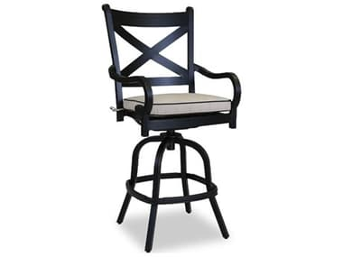 Sunset West Quick Ship Monterey Counter Stool in Frequency Sand with Canvas Walnut Welt SW30017C56094