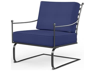 Sunset West Provence Wrought Iron Spring Club Chair SW320121RNONSTOCK