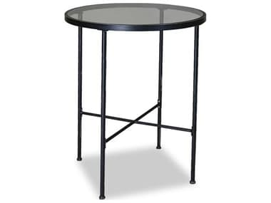 Sunset West Quick Ship Provence Wrought Iron 32 Round Glass Top Pub Table SW3201PT