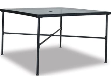 Sunset West Quick Ship Provence Wrought Iron 44 Square Glass Top Dining Table SW3201T44