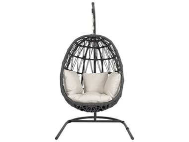 Sunset West Milano Quick Ship Wicker Hanging Swing Chair in Echo Ash SW4101HC57005