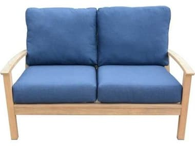 Three Birds Casual St. Lucia Teak Deep Seating 2-Seater Sofa TBSL60