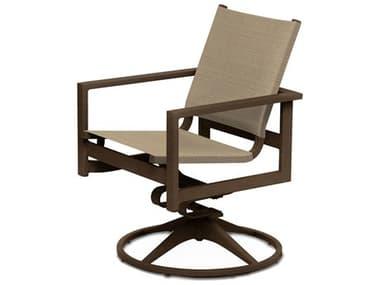 Telescope Casual Tribeca Sling Aluminum Swivel Rocker Dining Arm Chair TC1T60