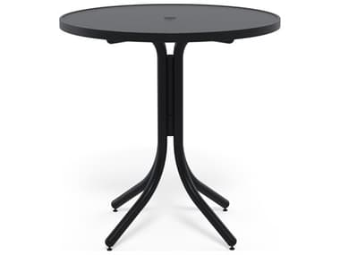 Telescope Casual Aluminum Slat Top 36'' Wide Round Counter Height Table with Umbrella Hole TC32303W50