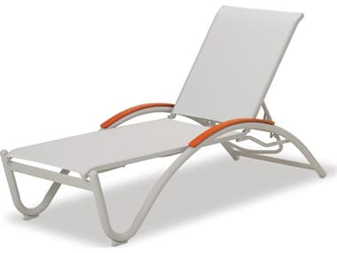 Telescope Casual Helios Sling Aluminum Stackable Chaise Lounge TC75C0