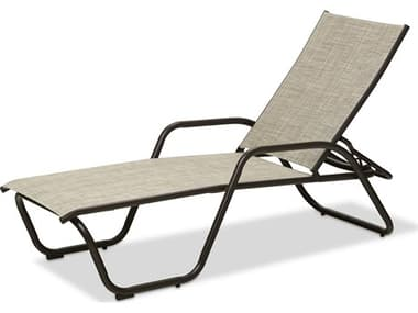 Telescope Casual Gardenella Sling Aluminum Four Position Stackable Chaise Lounge TC7720