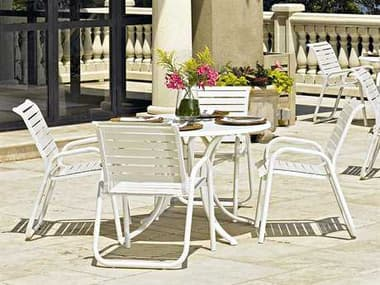 Telescope Casual Reliance Contract Strap Aluminum Dining Set TCRCSDS