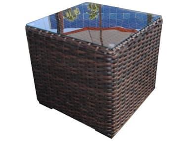 Teva Santa Monica Wicker Rattan 20W x 20H Square End Table TE105ET