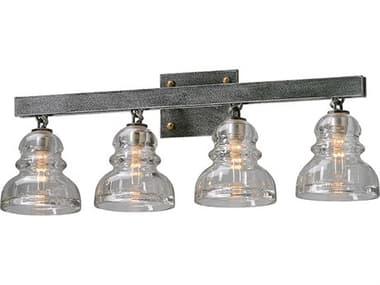Troy Lighting Menlo Park Old Silver Four-Light 28'' Wide Vanity Light TLB3954