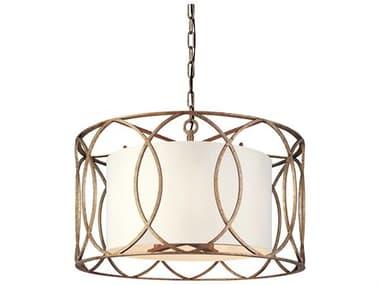 Troy Lighting Sausalito Silver Gold Five-Light 25'' Wide Pendant Light TLF1285SG