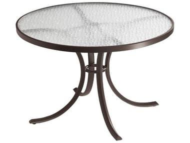 Tropitone Acrylic Cast Aluminum 42'' Wide Round Dining Table with Umbrella Hole TP1842AU