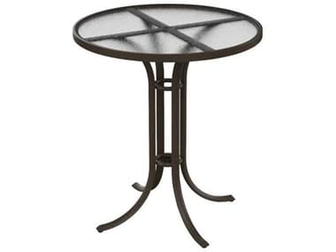 Tropitone Acrylic Cast Aluminum 36'' Wide Round Bar Table TP1897A