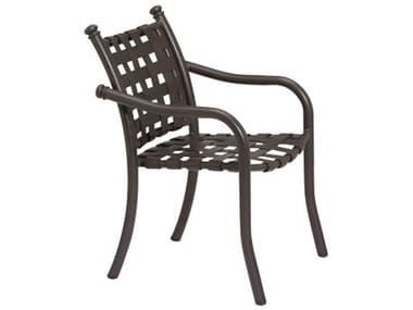 Tropitone La Scala Cross Strap Aluminum Stackable Dining Arm Chair TP330024