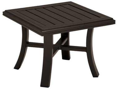 Tropitone Banchetto Slat Aluminum 24'' Wide Square Tea Table TP401138