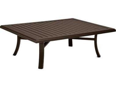 Tropitone Banchetto Slat Aluminum 54''W x 42''D Rectangular Coffee Table TP401167