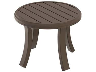Tropitone Banchetto Slat Aluminum 24'' Wide Round Tea Table TP401183