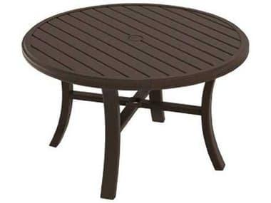 Tropitone Banchetto Slat Aluminum 42'' Wide Round Chat Table TP401186