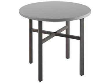 Tropitone Matrix Aluminum 48'' Wide Round KD Counter Table with Umbrella Hole TP441948U34