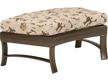 Tropitone Ravello Cushion Crescent Aluminum Ottoman Bench TP660908C38