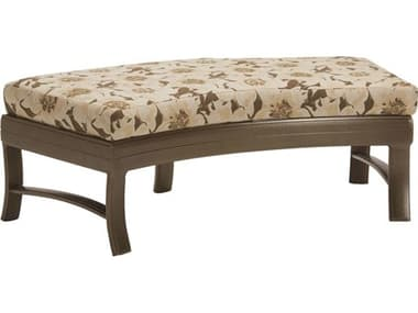 Tropitone Ravello Cushion Crescent Aluminum Ottoman Bench TP660908C50