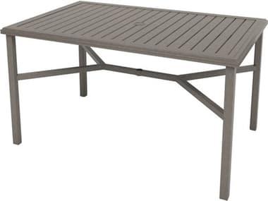 Tropitone Amici Aluminum 66''W x 42''D Rectangular KD Counter Table with Umbrella Hole TP691866U34