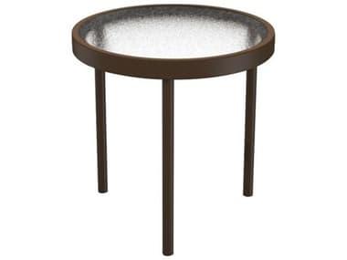 Tropitone Acrylic Cast Aluminum 16'' Wide Round Tea Table TP694A